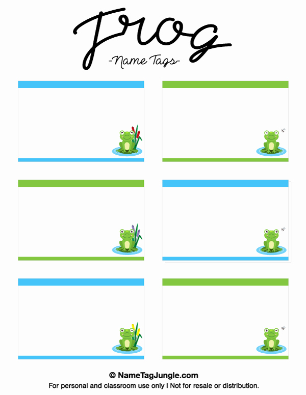 Printable Name Tags for Preschool Fresh Free Printable Frog Name Tags the Template Can Also Be