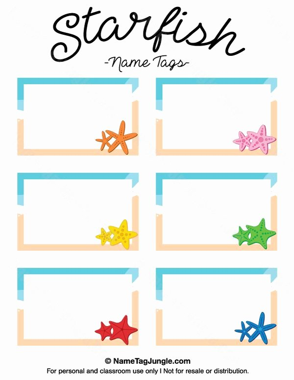 Printable Name Tags for Preschool Unique 25 Best Name Tag Templates Ideas On Pinterest