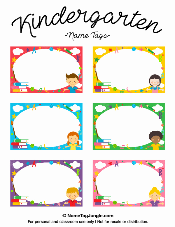 Printable Name Tags for Preschool Unique Printable Kindergarten Name Tags
