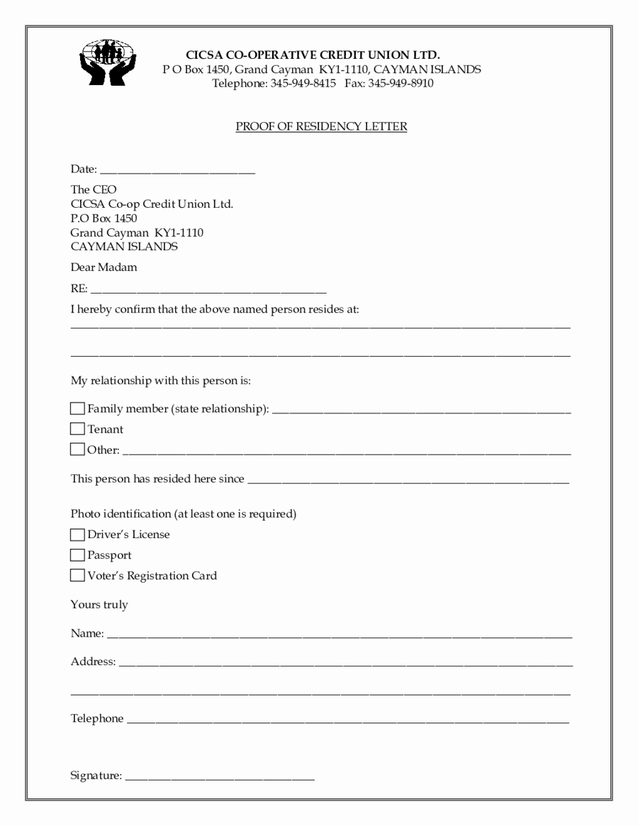 Printable Notarized Letter Of Residency Template Awesome 24 Of Template Proof Renters Insurance