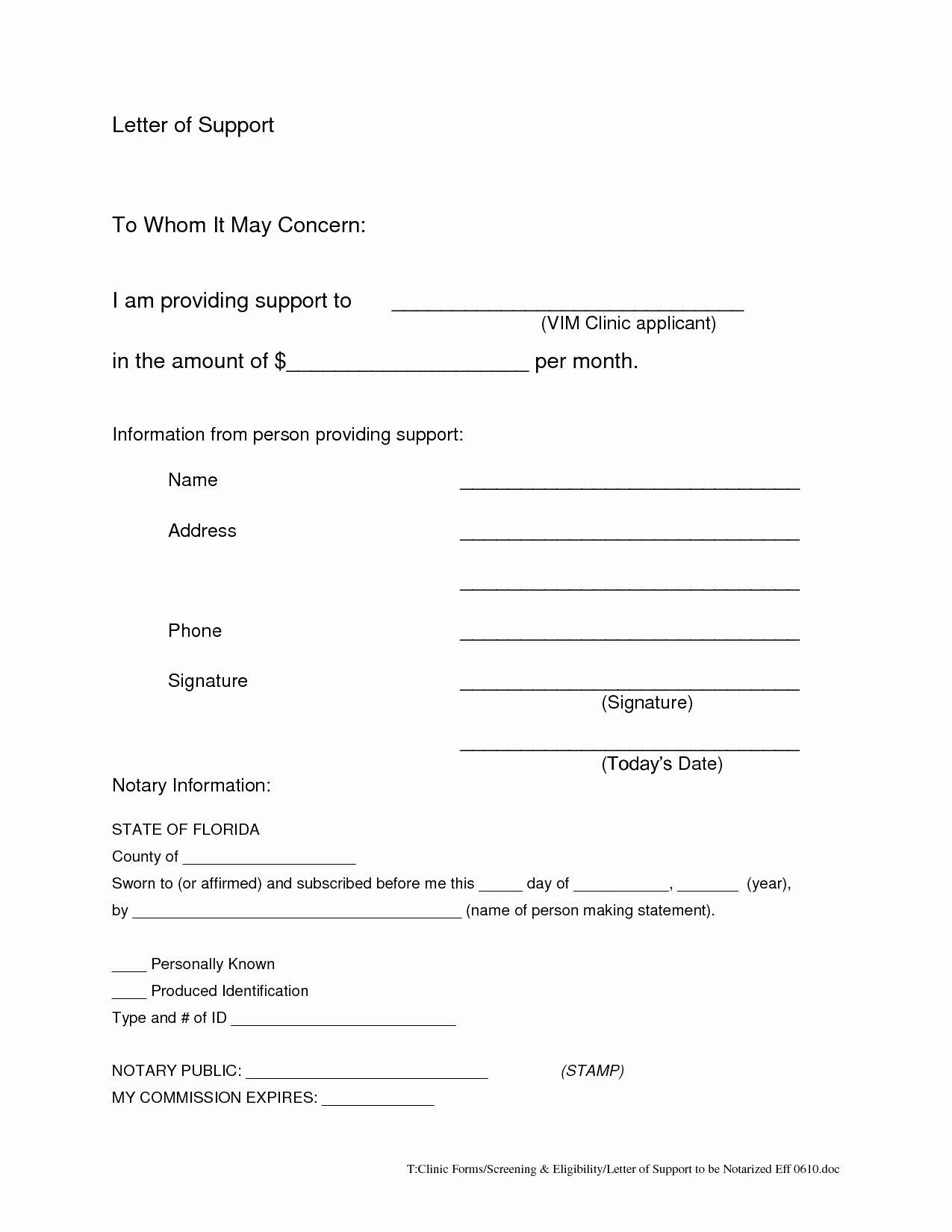 Printable Notarized Letter Of Residency Template Elegant Printable Notarized Letter Residency Template Samples