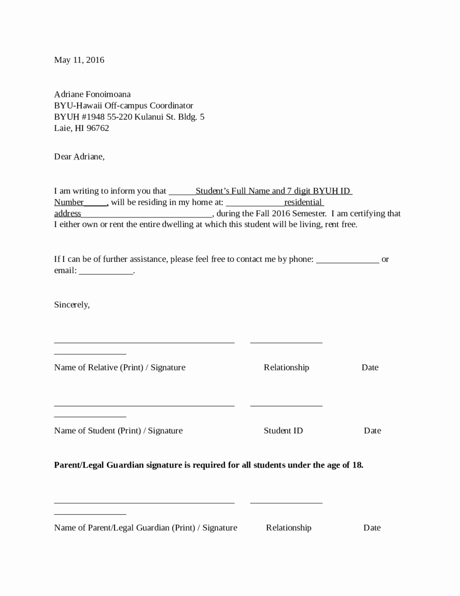 Printable Notarized Letter Of Residency Template Inspirational 2019 Proof Of Residency Letter Fillable Printable Pdf