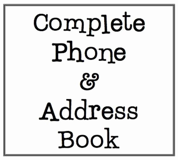 Printable Phone Book Beautiful Unavailable Listing On Etsy