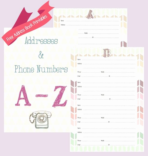 Printable Phone Book Lovely Free Address Book Printables