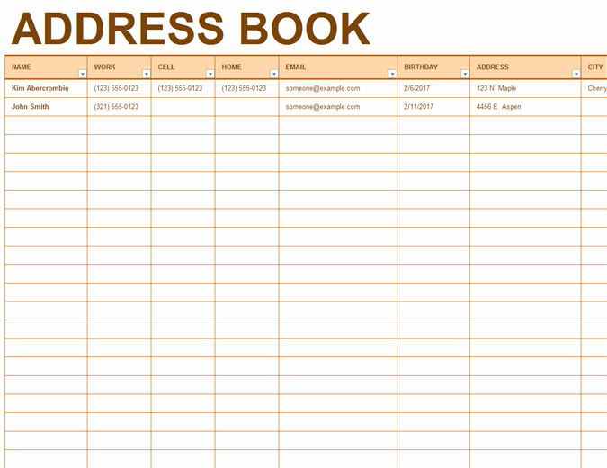 Printable Phone Book Template Fresh Address Book