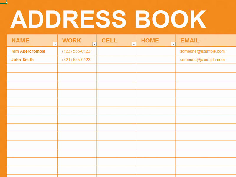 Printable Phone Book Template Fresh Free Excel Template Personal Address Book