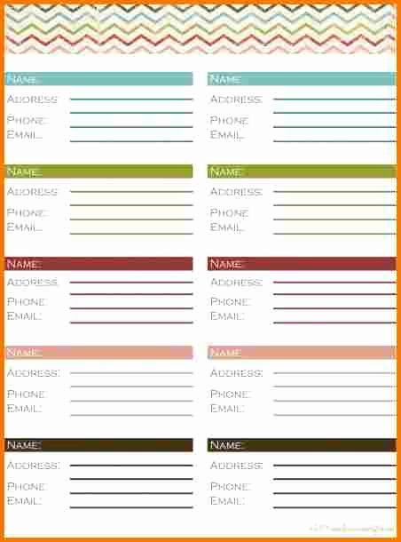 Printable Phone Book Template Lovely Free Printable Address Book