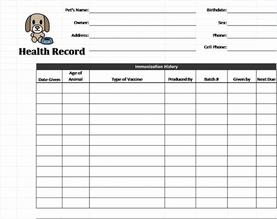 Printable Puppy Shot Record Elegant 17 Best Images About Dog Cat Shelter ️