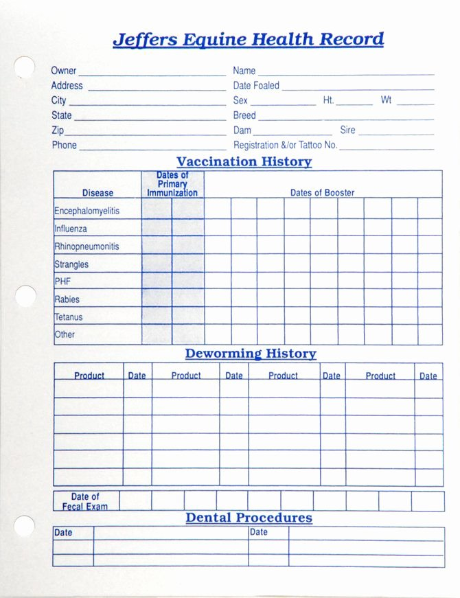 Printable Puppy Shot Record Luxury Horse Health Records Each Horse Stuff