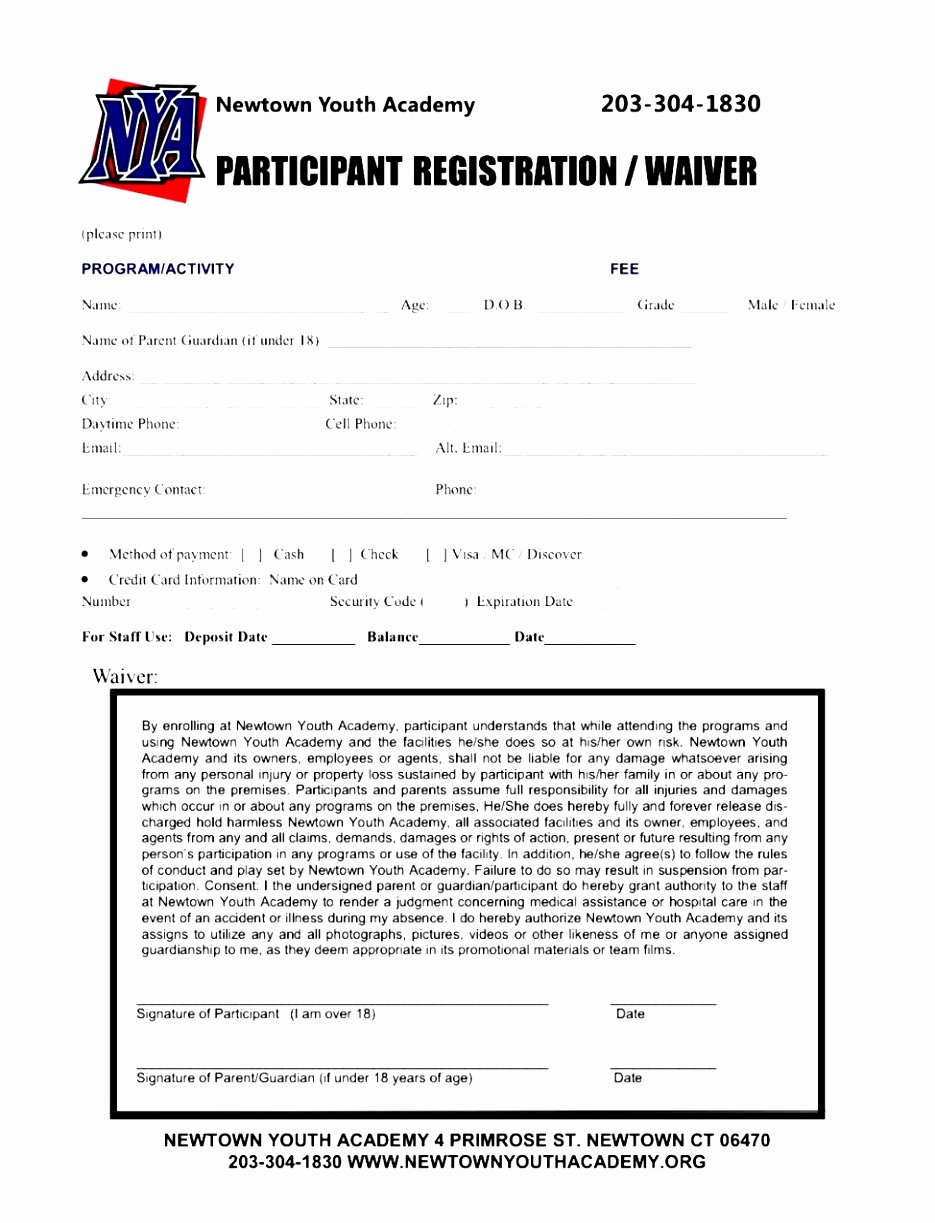 Printable Registration form Template Lovely 7 Baseball Registration form Template Piuur