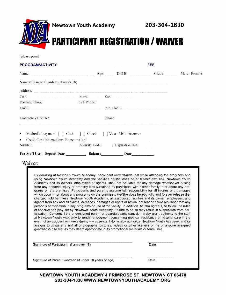 Printable Registration form Template Lovely 7 Baseball Registration form Template Piuur