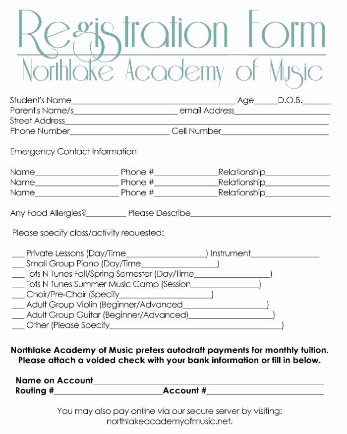Printable Registration form Template Luxury 5k Registration form Template Free Templates Resume