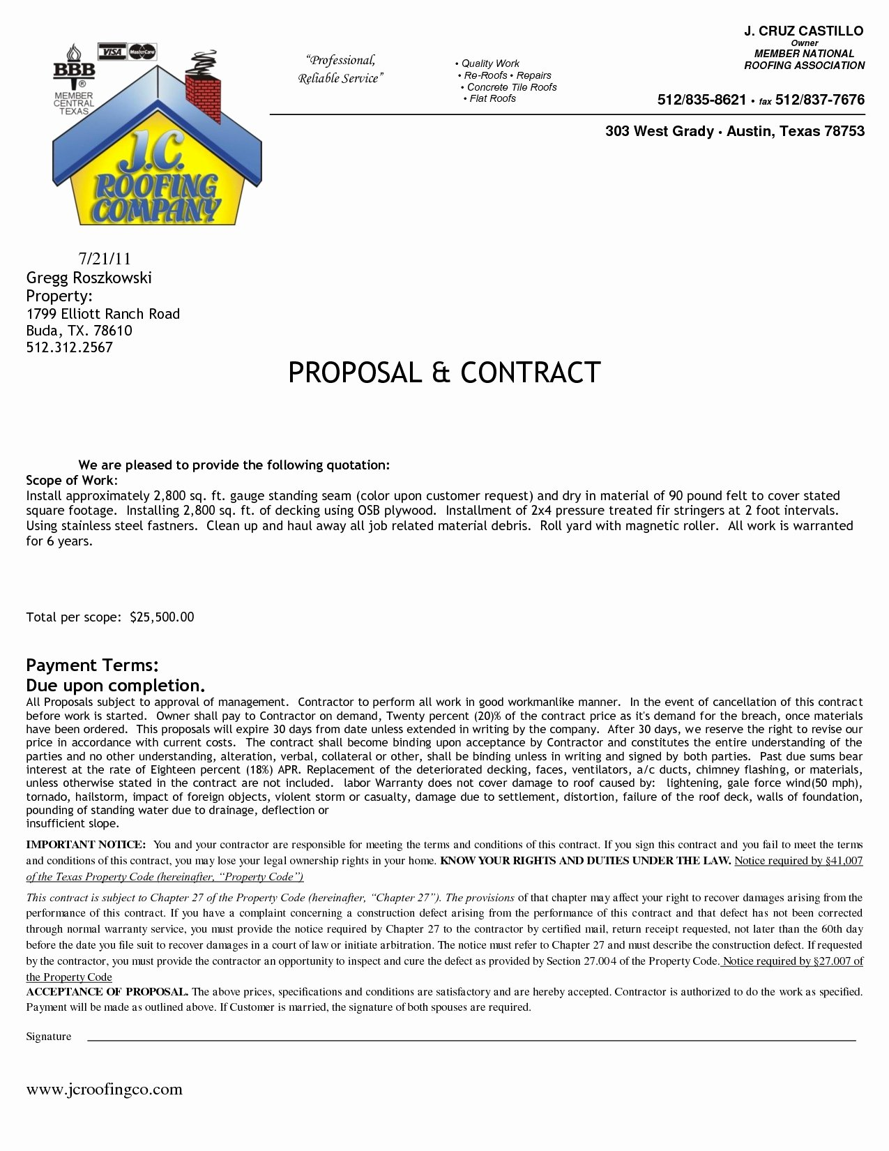 Printable Roofing Contracts Best Of Roofing Agreement forms Expert Roofing Contract Free