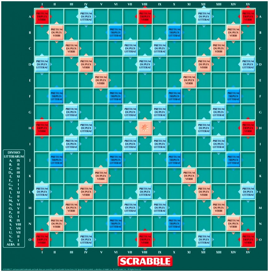 Printable Scrabble Board Template Inspirational 5 Scrabble Board Template Printable Itmto