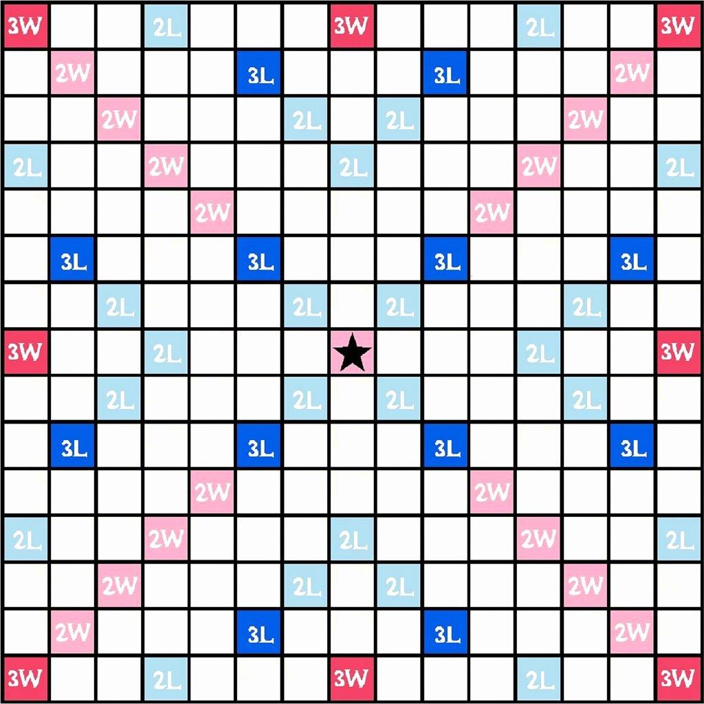 Printable Scrabble Board Template Lovely Scrabble Board Template Teaching Ideas