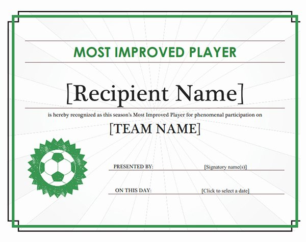 Printable soccer Certificate Awesome Printable Sports Certificates