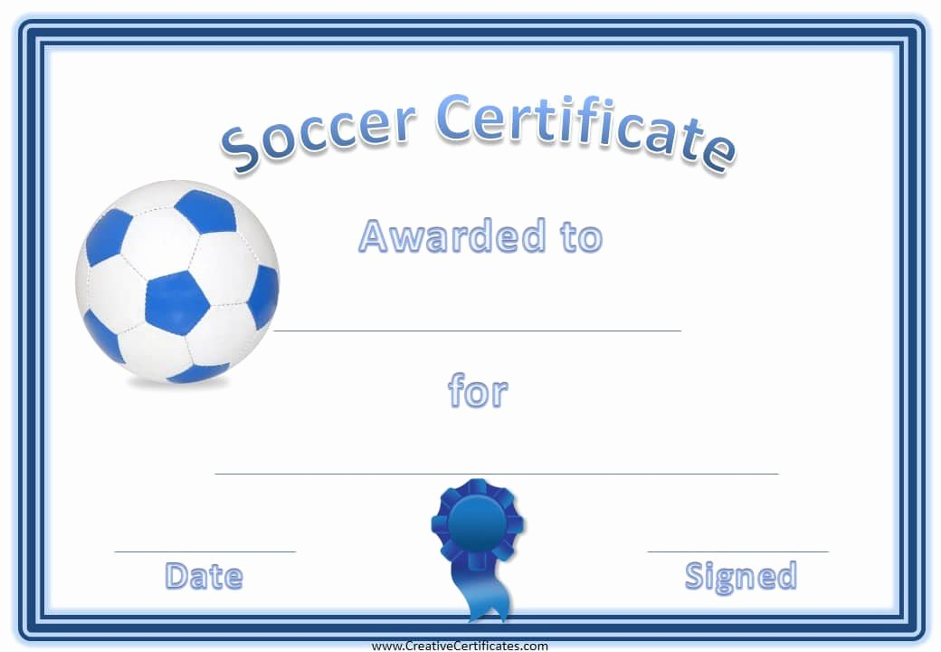 Printable soccer Certificate Beautiful 13 soccer Award Certificate Examples Pdf Psd Ai