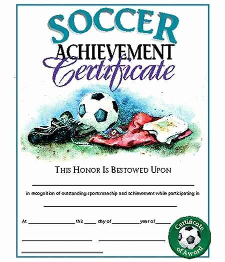 Printable soccer Certificate Beautiful 8 Best Images About Certificate On Pinterest