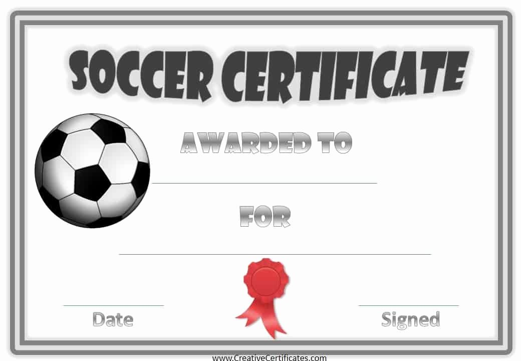 Printable soccer Certificate Beautiful Free Editable soccer Certificates Customize Line