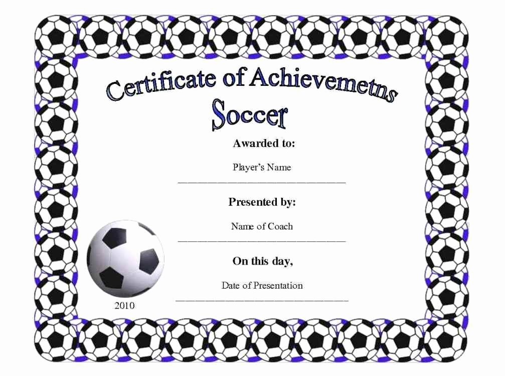Printable soccer Certificate Beautiful Free Printable Football Certificates Template Update234