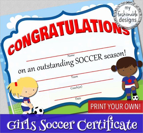 Printable soccer Certificate Best Of 15 soccer Certificate Templates to Download