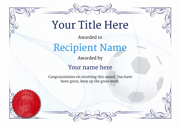 Printable soccer Certificate Best Of Free soccer Certificate Templates Add Printable Badges