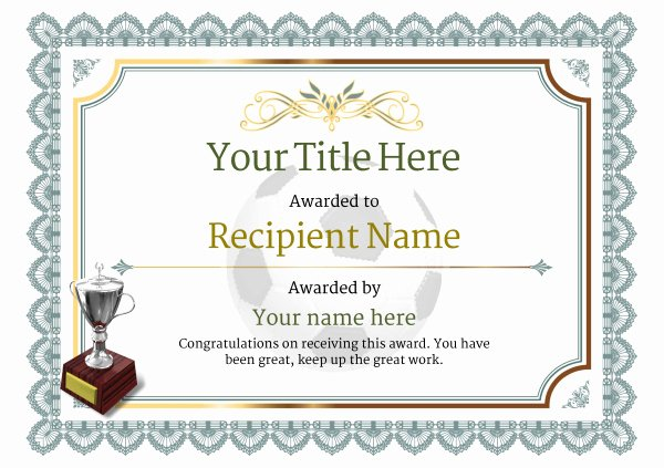 Printable soccer Certificate Best Of Free Uk Football Certificate Templates Add Printable