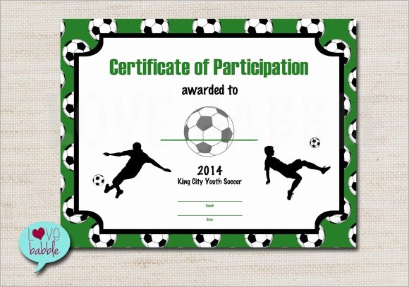 Printable soccer Certificate Elegant Football Certificate Template 16 Download Documents In