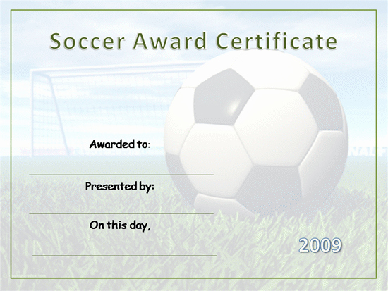 Printable soccer Certificate Elegant soccer Awards Template