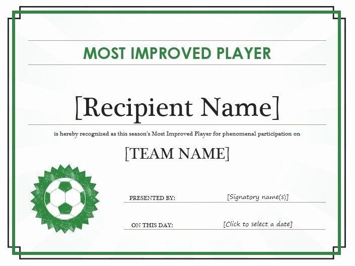 Printable soccer Certificate Fresh 13 Free Sample soccer Certificate Templates Printable