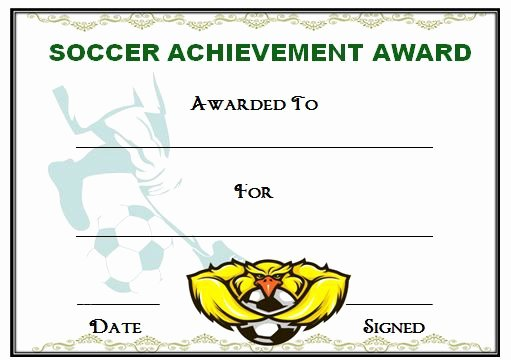 Printable soccer Certificate Lovely 30 soccer Award Certificate Templates Free to Download