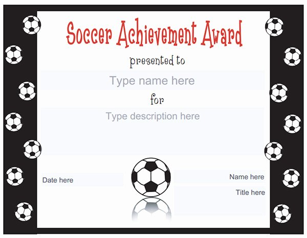 Printable soccer Certificate Lovely Printable Sports Certificates