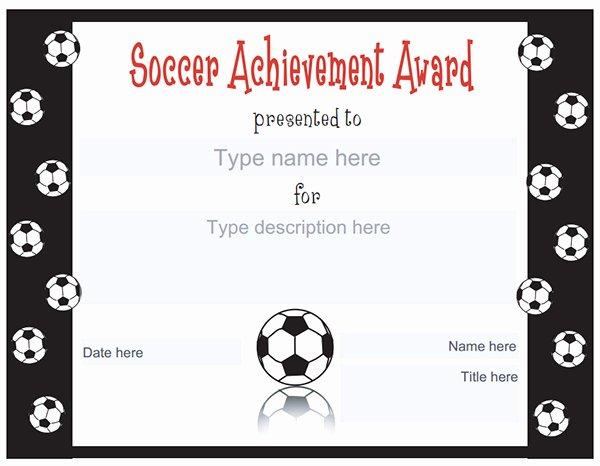 Printable soccer Certificate Lovely Printable Sports Certificates