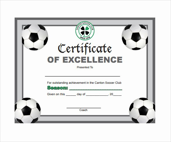 Printable soccer Certificate Luxury soccer Certificate Template 7 Download Free Documents