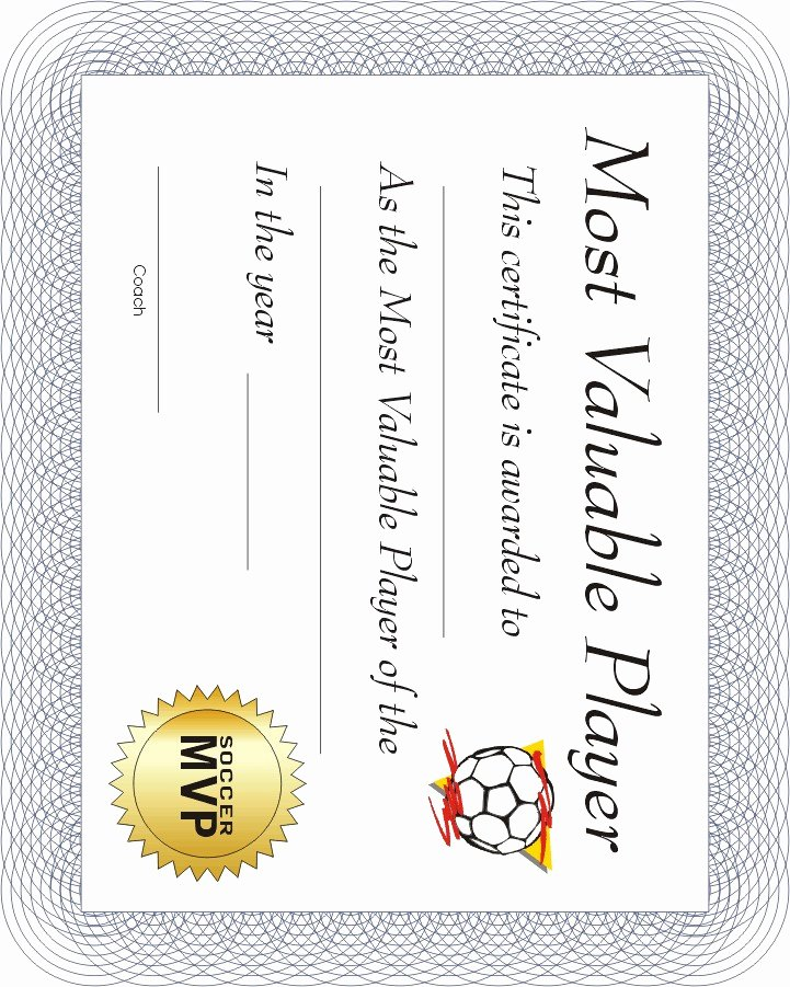 Printable soccer Certificate New Free Printable Sports