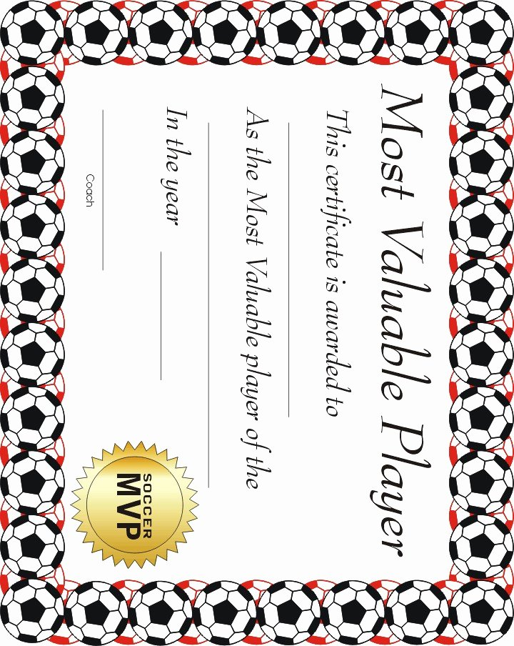 Printable soccer Certificate Unique Free Printable Sports