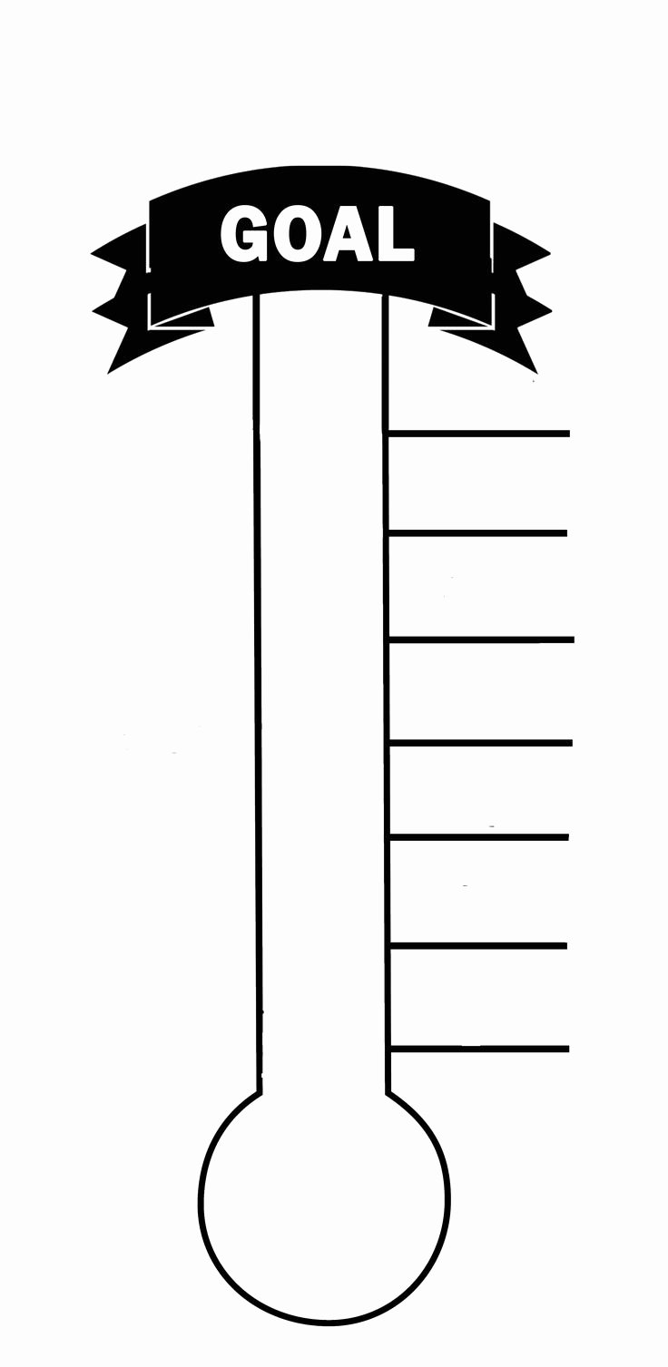 Printable thermometer Goal Chart Inspirational Blank thermometer Printable for Fund Raising & Creating A
