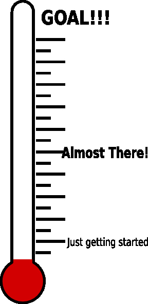 Printable thermometer Goal Chart Unique Fundraising thermometer Printable