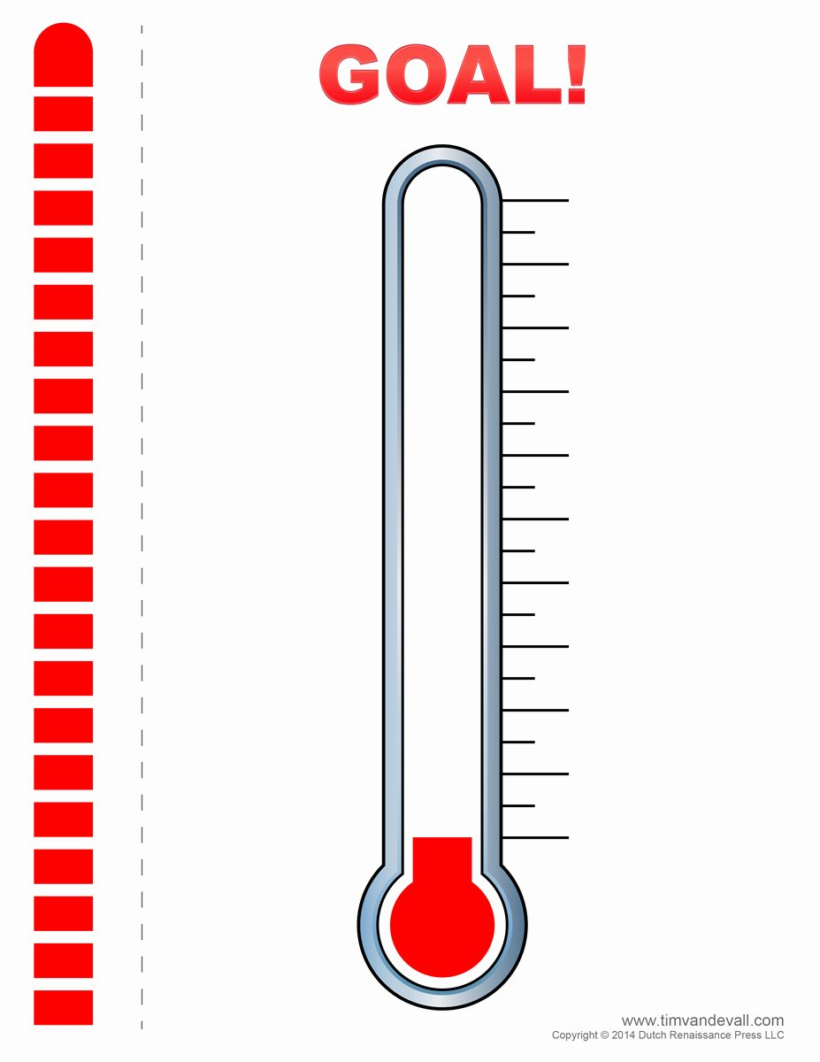 Printable thermometer Goal Unique Fundraising thermometer 02 Tim S Printables