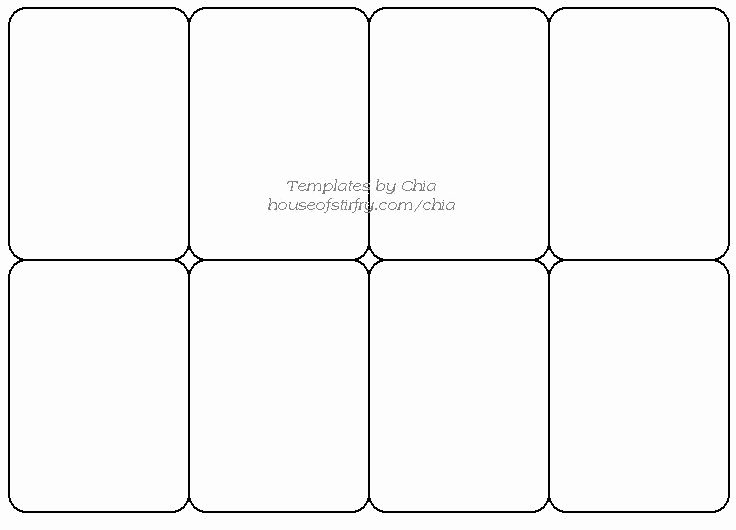 Printable Trading Card Template Beautiful Templete for Playing Cards Artist Trading Cards