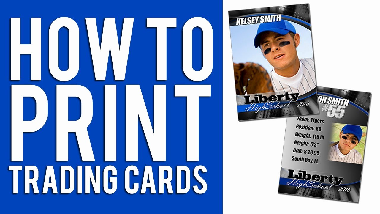 Printable Trading Card Template Elegant How to Print Custom Trading Cards Tutorial
