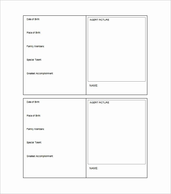 Printable Trading Card Template Inspirational Trading Card Template Word