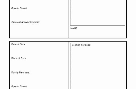 Printable Trading Card Template Lovely Printable Trading Card Template