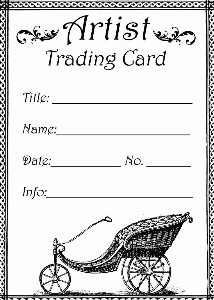 Printable Trading Card Template Luxury atc Trading Card Template 001 atc