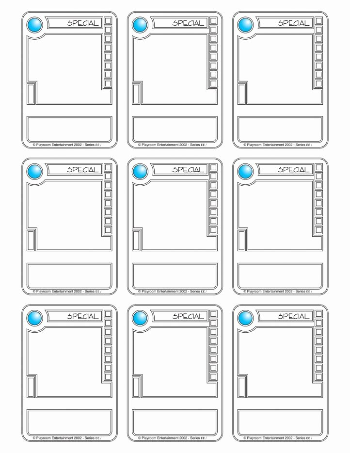 Printable Trading Card Template New Trading Card Template