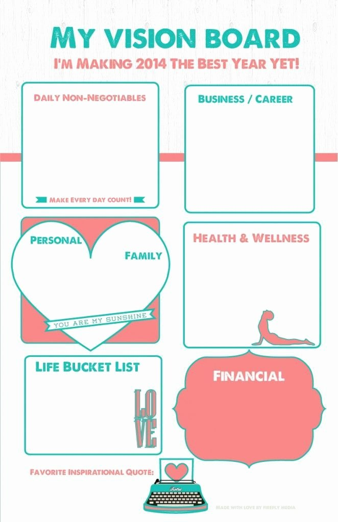Printable Vision Board Template Beautiful Here is One Way to Create A Visionboard as I Study