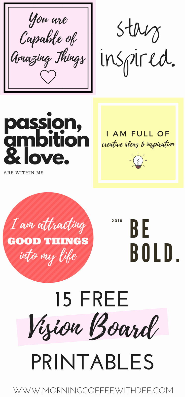 Printable Vision Board Template Elegant How to Create A Vision Board with Intention & Purpose
