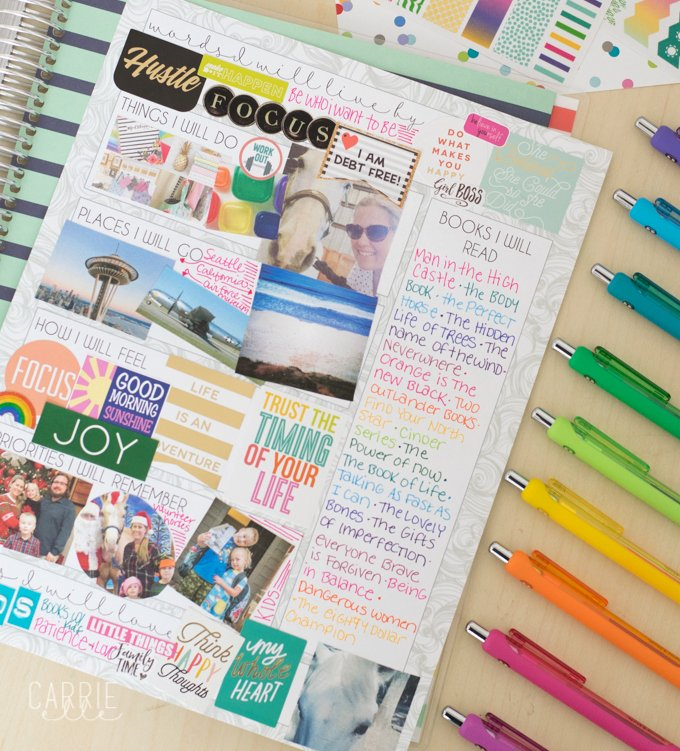 Printable Vision Board Template Elegant Printable Vision Board Template Carrie Elle