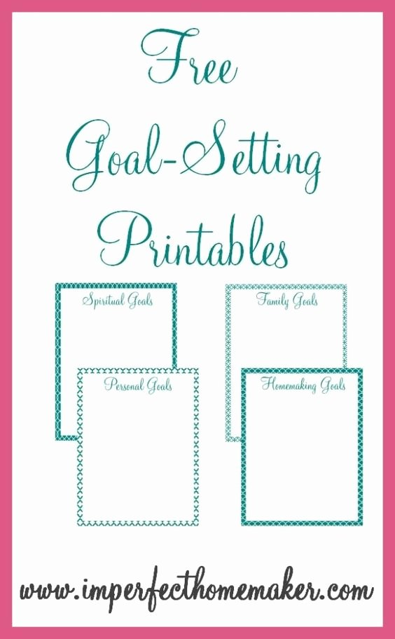 Printable Vision Board Template Fresh Free Goal Setting Printables