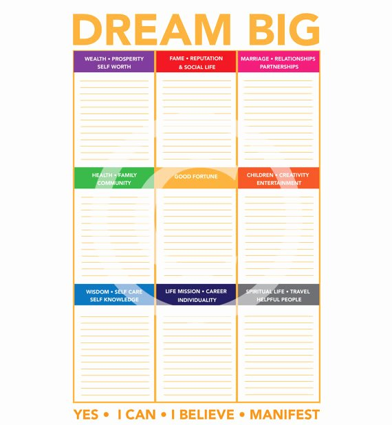 Printable Vision Board Template Fresh Items Similar to Vision Board Vision Boards Dream Boards